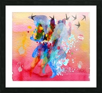 run through Duality of mind  Picture Frame print