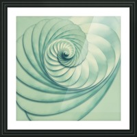 Composition in Celadon Picture Frame print