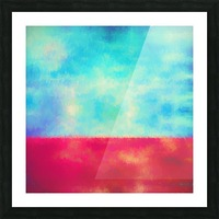 Red Horizon Picture Frame print