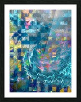 A Vision in Blue Picture Frame print
