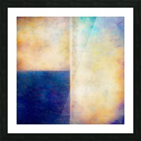 Blue Zone Picture Frame print