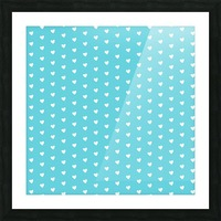 Sweet Light Blue Heart Shape Pattern Picture Frame print