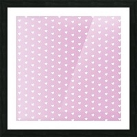 Spring Pink Heart Shape Pattern Picture Frame print
