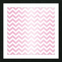 RED RADIAL PASTEL CHEVRON Picture Frame print