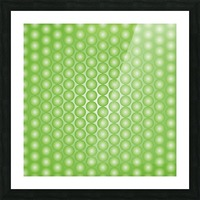 Yellow Green Pearl Pattern Picture Frame print