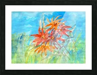 wildflower Picture Frame print