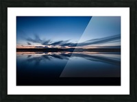 Feather skies Picture Frame print