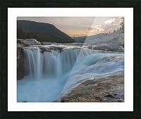 Elbow falls Picture Frame print