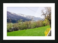 Niedernsill Landscape Austrian Alps Picture Frame print