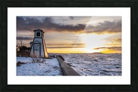 A winter evening Impression et Cadre photo