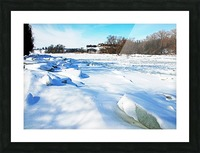 Frazil Ice On The Grand River West Montrose Picture Frame print