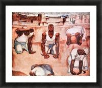 The men by Albin Egger-Lienz Picture Frame print