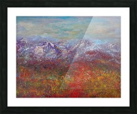 Fall colors in the San Juan National Forest Picture Frame print