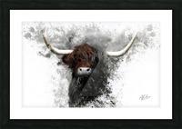 Highland Cow in Ink Impression et Cadre photo