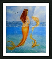 The Sea Nymph Picture Frame print