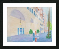 Walking the Dog  2 Picture Frame print