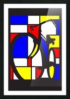 mondrian bike_1553400212.88 Picture Frame print