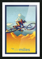 my air miles mountain bike poster Picture Frame print
