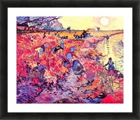 The red vines by Van Gogh Picture Frame print