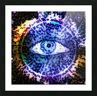 Beautiful Eye Design Picture Frame print