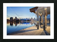 Waiting for Water Taxi Picture Frame print