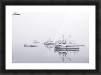New Brunswick  Boats in the Mist Picture Frame print