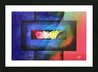 WINDOW OF PERCEPTION Picture Frame print