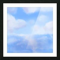 Happy Clouds - Original Artwork Picture Frame print