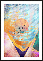 Abstract Sunset - Illustration VI Picture Frame print