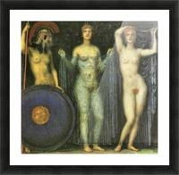 The three Goddesses Athena, Hera and Aphrodite by Franz von Stuck Picture Frame print