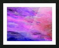 Pastel Sunset Picture Frame print