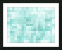 geometric square pixel pattern abstract in green Picture Frame print