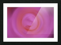 Abstract Floral Photograph - Pinkswirl Picture Frame print