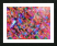 geometric square pixel pattern abstract background in pink blue orange purple Picture Frame print