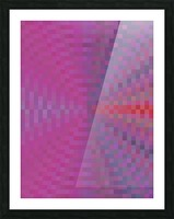 geometric square pixel pattern abstract background in pink and blue Picture Frame print