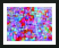 geometric square pixel pattern abstract background in blue purple pink red Picture Frame print