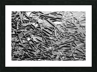 Natural Geometry Black And White Picture Frame print