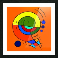 Dessimiano - the colourful snailophone Picture Frame print