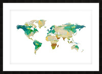 Artistic World Map I Picture Frame print