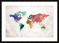 Artistic World Map II Picture Frame print