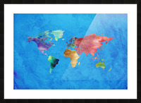 Artistic World Map III Picture Frame print