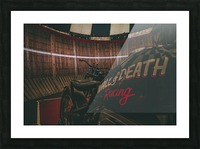 Wall of death Harley Davidson Picture Frame print