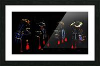 Memories of Samurai Black Armour Collage Picture Frame print