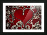 Mechanical Love Picture Frame print