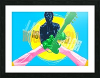 Rocknroll Picture Frame print