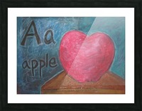 A is for Apple Picture Frame print