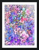 Pink and Blue Fusion Picture Frame print