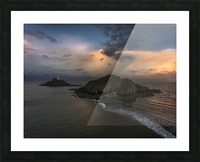 Dusk at Mumbles lighthouse Picture Frame print