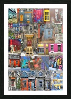 Plateau Mont-Royal Montreal Picture Frame print