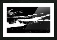 RECOLLET FALLS 5 -  Black & White High Contrast Picture Frame print